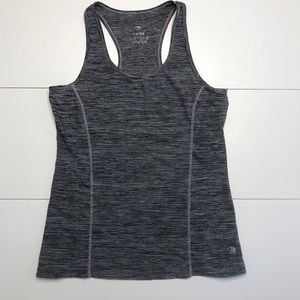 MPG Racerback Fitness Tank Top Gray and Black